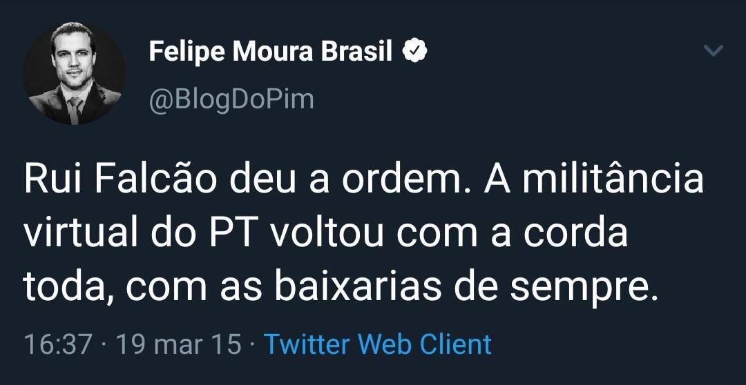 Felipe Moura Brasil x Rui Falcão