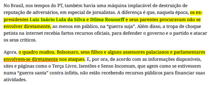 José Fucs solta fake news no Estadão