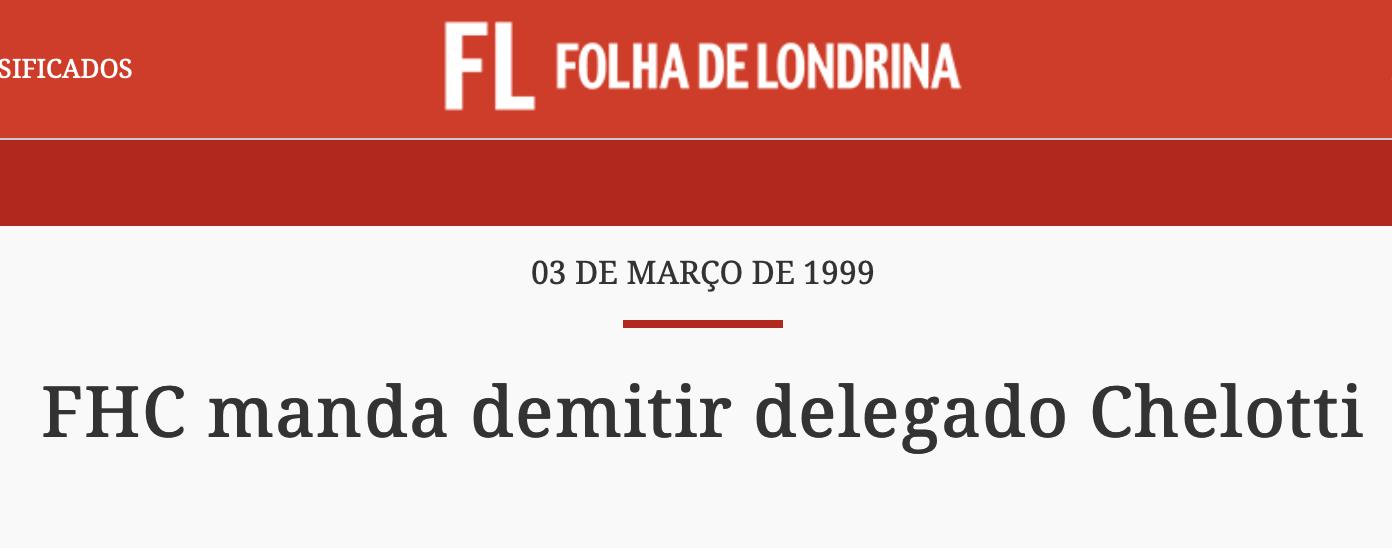 FHC quer demitir delegado da PF
