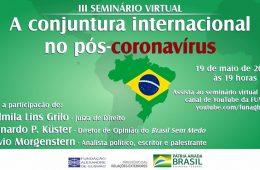 Funag - palestra conjuntura internacional pós-coronavírus