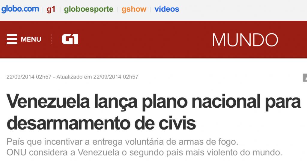 G1 desarmamento na Venezuela