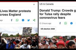 Black Lives Matter, BBC, Trump, Coronavírus