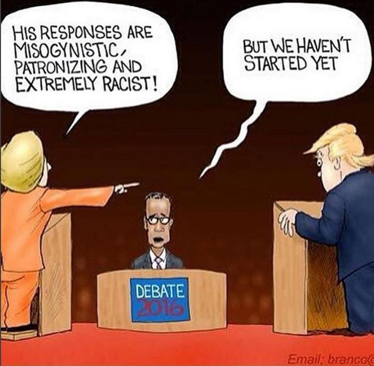 Debate entre Hillary Clinton e Donald Trump.