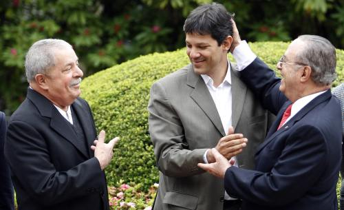 Lula, Haddad e Maluf, PT 2016