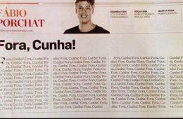 Fábio Porchat Fora Cunha - coluna do Estadão