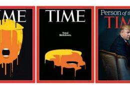 Revista Time - Donald Trump é pessoa do ano. Trump Meltdown.
