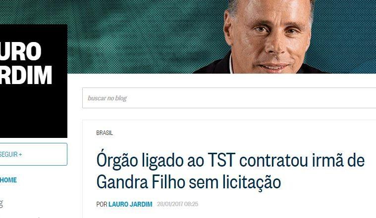 Lauro Jardim - Fake News sem lei de licitação para atacar Ângela e Ives Gandra Filho