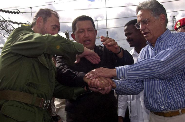 Fidel Castro, Hugo Chávez, Fernando Henrique Cardoso
