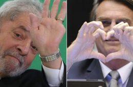 Lula e Bolsonaro no Datafolha