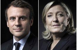 Emmanuel Macron e Marine Le Pen, segundo turno das eleições francesas de 2017