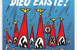 Charlie Hebdo pinta vítimas do furacão Harvey no Texass como neonazistas.