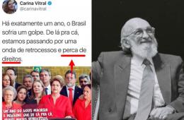 Ex-presidente da UNE Carina Vitral com ditador Nicolás Maduro