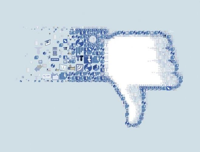 Facebook de algoritmo novo: descurtir