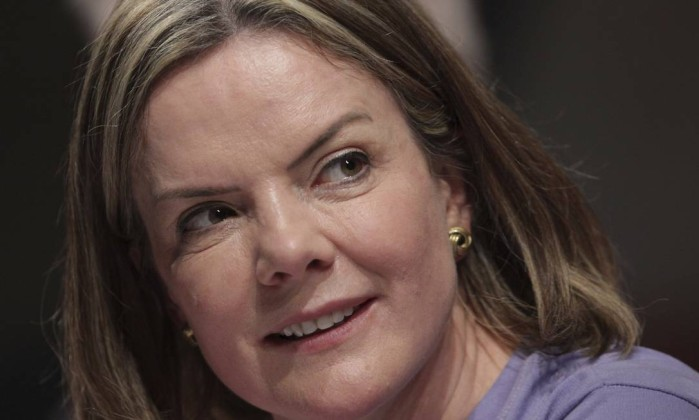 Gleisi Hoffmann, presidente do PT