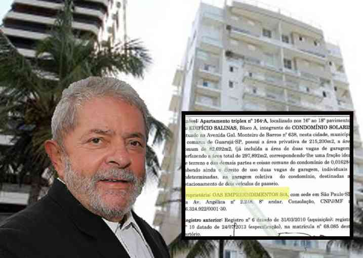Lula e o triplex no Guarujá