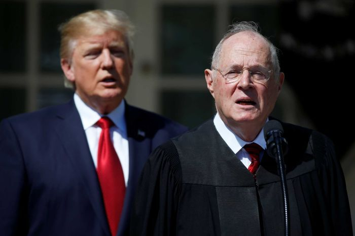 Donald Trump e juiz da Suprema Corte americana Anthony Kennedy