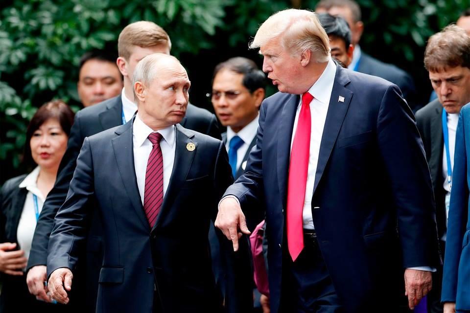 Donald Trump e Vladmir Putin, EUA e Rússia