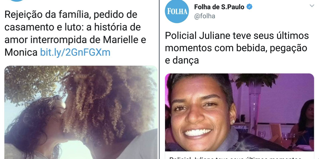 PM Juliane x Marielle Franco na Folha