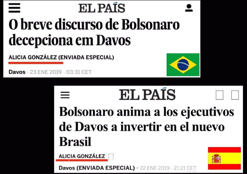 El País - duas manchetes