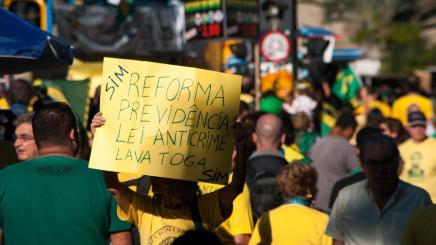 protesto Bolsonaro reforma previdência