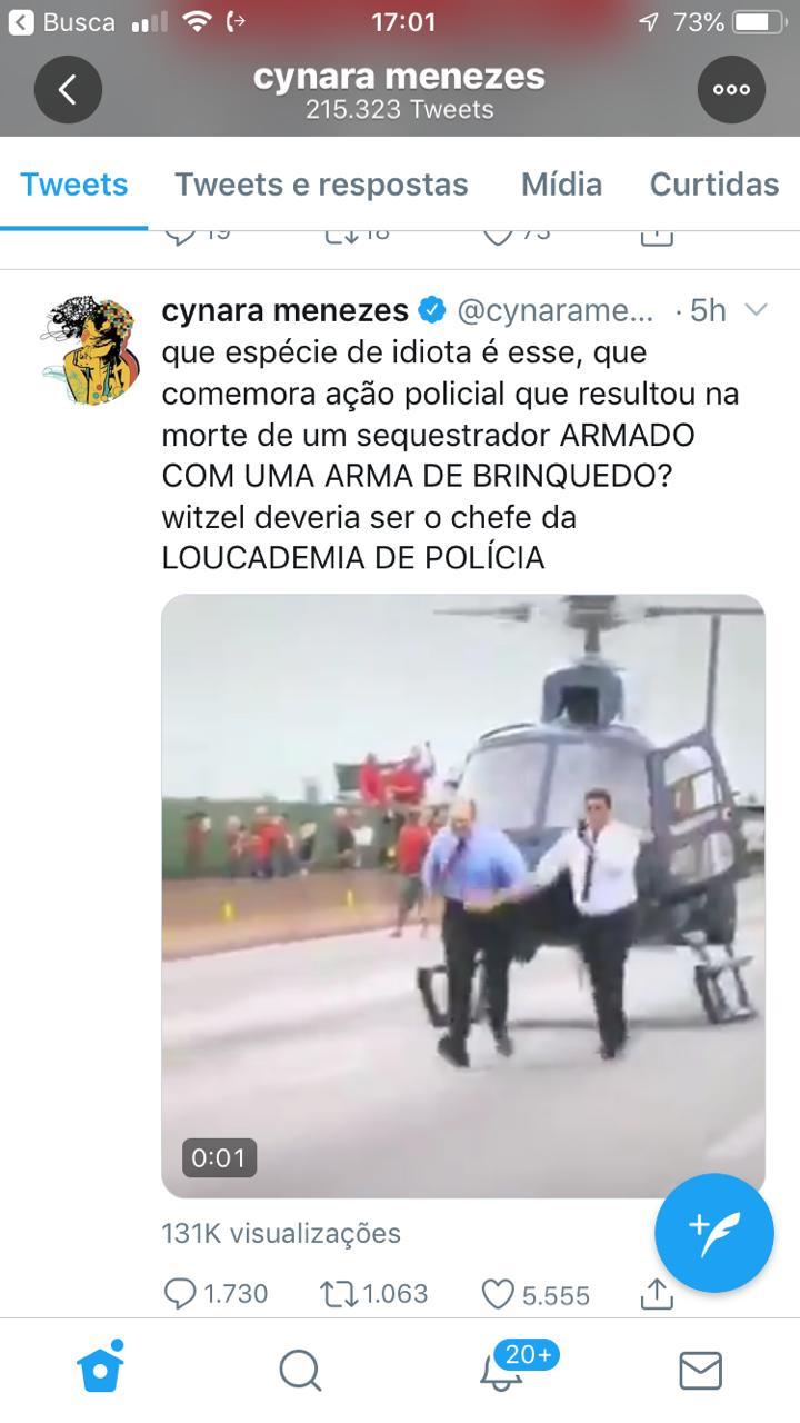 Witzel, Esquerda, Rio de Janeiro, sequestro, sniper