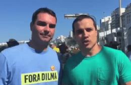Felipe Moura Brasil e Flávio Bolsonaro