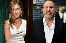 Jennifer Aniston, Harvey Weinstein, assédio