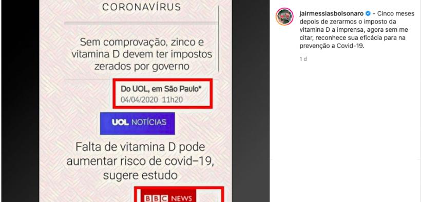 As mentiras do UOL sobre vitamina D e Zinco serão tratadas como fake news?